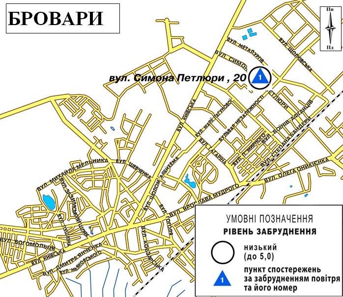 Карта, мапа, обсерваторія, забруднення повітря