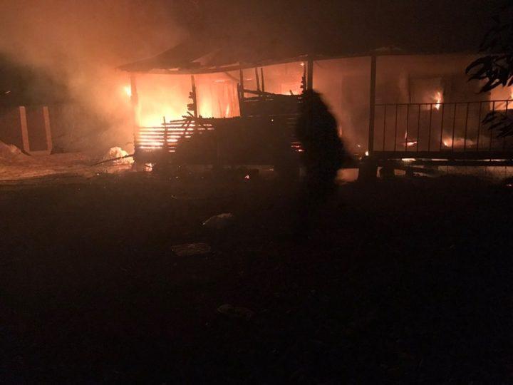 Пожежа в селі Рожни