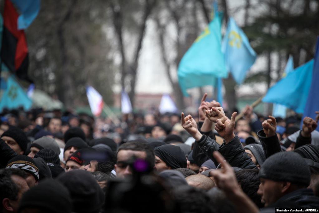 Проросійські мітингувальники, Крим