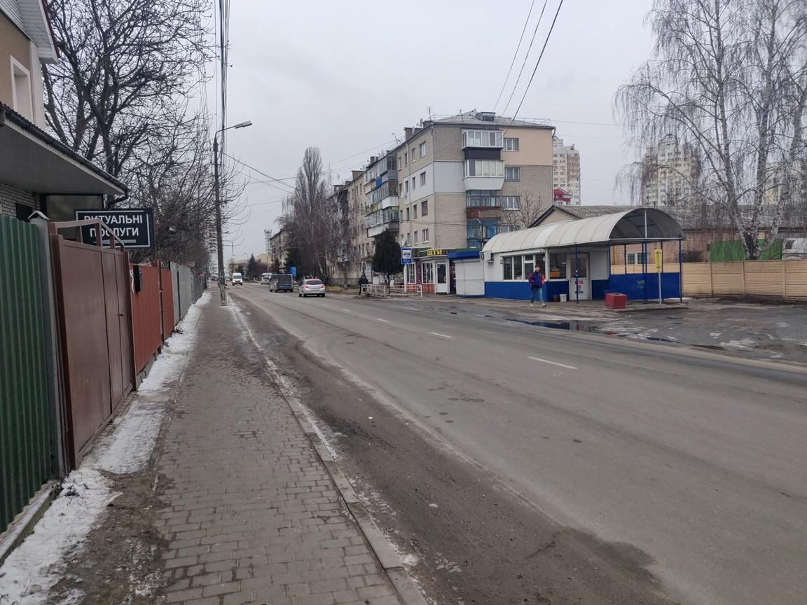 Місце ДТП на Шевченка