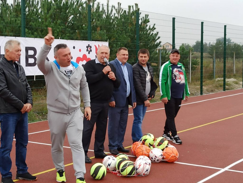 Відкриття спортивного майданчика в Богданівці